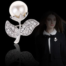 Qiongfu Korean-Style Exquisite Fashion Flower Pearl Brooch Pin Garment Accessory Brooch Brooch Pins and Brooches цена 2017