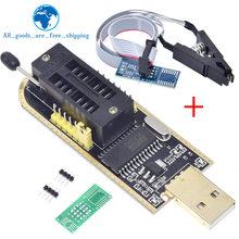 1 pçs ch341a 24 25 série eeprom flash bios usb programador módulo + soic8 sop8 clipe de teste para eeprom 93cxx/25cxx/24cxx
