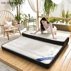 Natuurlijke latex matras 10cm dikte Koning Koningin Full Twin size Memory foam vulling Ademend Comfortabele rebound Tatami