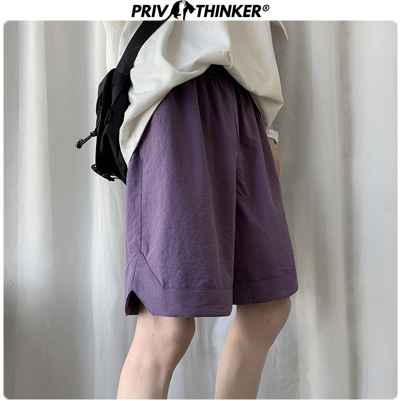 Privathinker 2020 Men Colorful Summer Casual Shorts Men's Oversize Harajuku Shorts Male Hip Hop Korean Knee Length Shorts 2XL