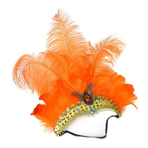 Image 4 - Feather Headdress Mask Carnival Masquerade Christmas Costumes Props  Brazil River Carnival Party Mask Headwear For Lady Headwear