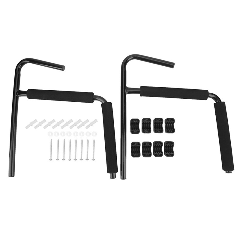 2 Pcs Kayak Ladder Wall Mount Rack Surfboard Canoe Folding Hanger