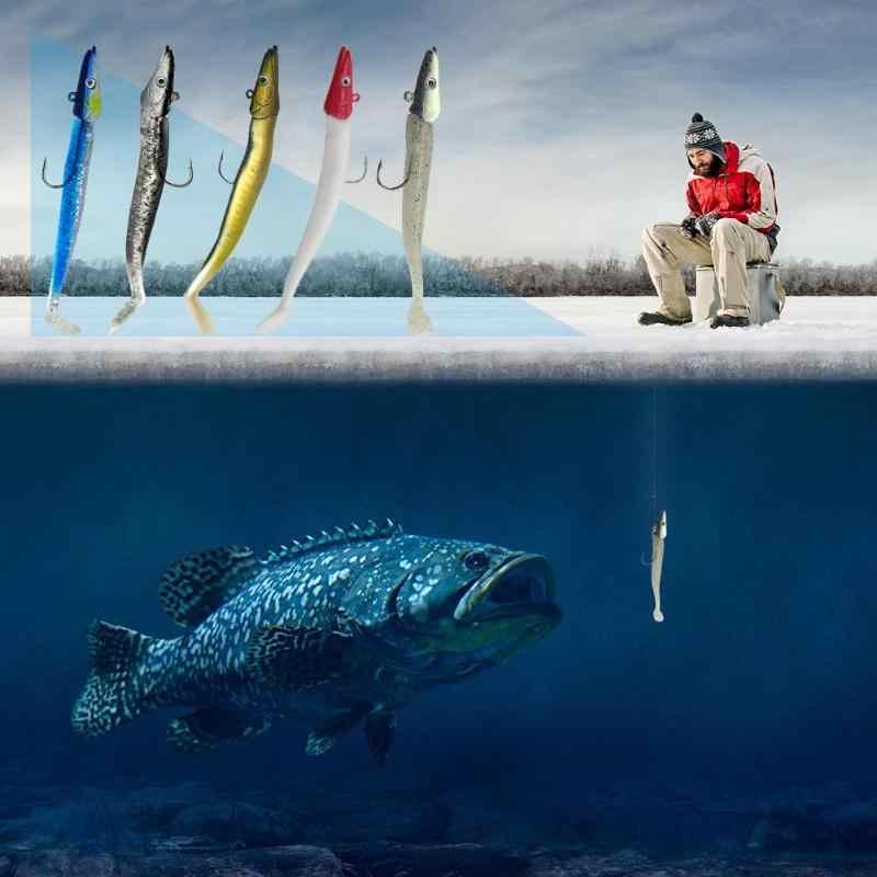 11 ซม.10g เรืองแสงอ่อนล่อ Iscas Wobblers เหยื่อประดิษฐ์ซิลิโคน Fishing Lure เบสปลาคาร์พตะกั่วช้อน JIG เหยื่อ Fish Tackle