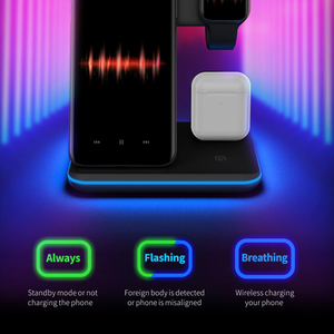 Image 3 - Qi Wireless Fast Charger Charging Pad Stand Dock 15W For Iphone 11 Pro Max Apple Watch 4 3 2 Airpods Station Chargeur Induction
