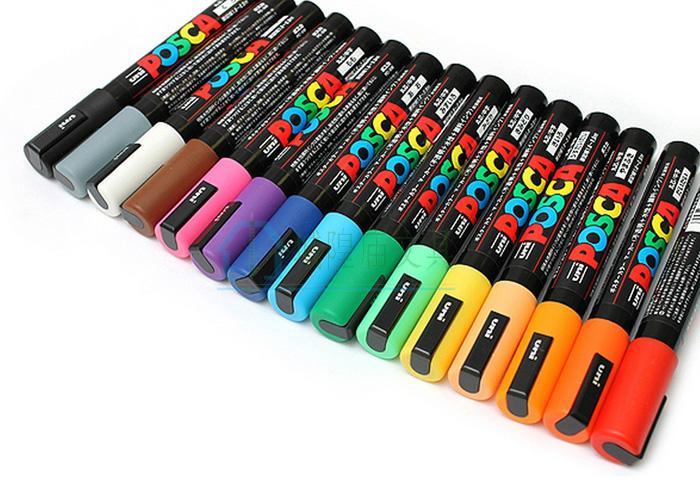 2Pcs Uni Mitsubishi Posca PC-5M Paint Marker Writing Pen FineTip 1.8-2.5mm 17 Colors For Choose