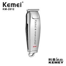Kemei الدقة المهنية الكهربائية مقص الشعر 0 مللي متر Baldheaded قابلة للشحن الشعر المتقلب للرجال أداة تهذيب اللحية الحلاق KM 2812