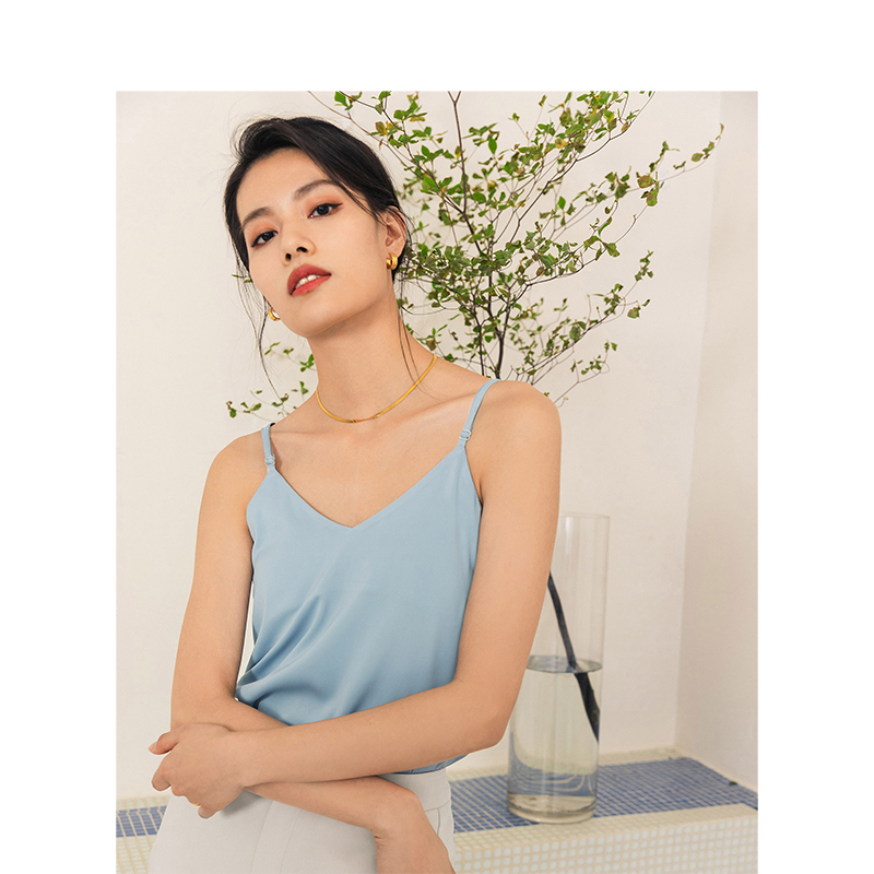 INMAN 2020 Summer Artistic Minimalist Age Reducing Women Sling Camisole