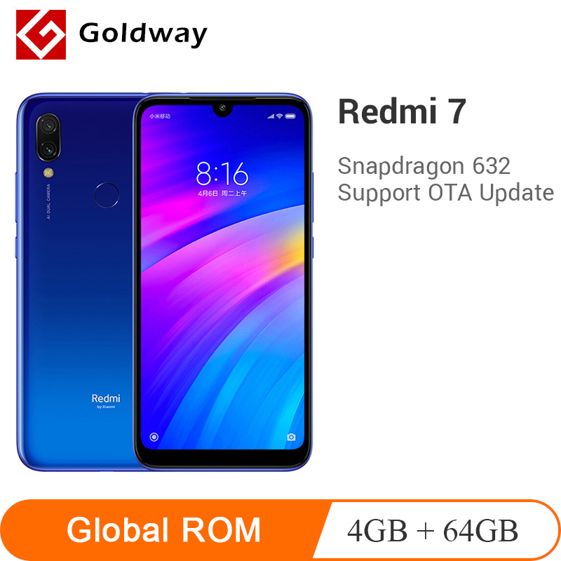Global ROM Xiaomi Originais Redmi 7 4GB 64GB Snapdragon 632 Núcleo octa 6.26