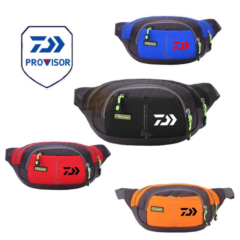 Новая сумка Daiwa для мужчин и женщин, для рыбалки, поясная сумка, для спорта на открытом воздухе, с карманами, противоугонная, мобильная, водон...