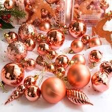 30 Teile/satz Glitter Weihnachten Kugeln Weihnachten Baum Anhänger Kunststoff Bolas De Navidad Hause Runde Dekoration Liefert