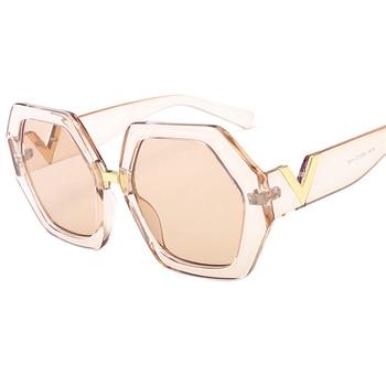 2021 Luxury Square Sunglasses Ladies Fashion Glasses Classic Brand Designer Retro Sun Glasses Women Sexy Eyewear Unisex Shades - Pink