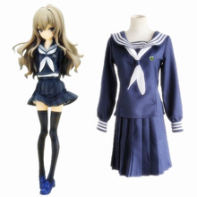 Anime Toradora Cosplay Costumes Taiga Aisaka Costume Sailor Suit Uniforms Halloween Party Game Women