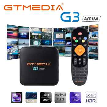 GTMEDIA G3 Android 7.1 Smart TV BOX S905X 2G 16G ROM Set Top Box support netflix 4K 3D H.265 Wifi media player IPTV TV Receiver