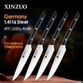 XINZUO 5 'Универсальный нож из высокоуглеродистой Немецкой Нержавеющей Стали 1 4116  кухонный нож  стойкая бритва  острое лезвие с эбеновой ручкой