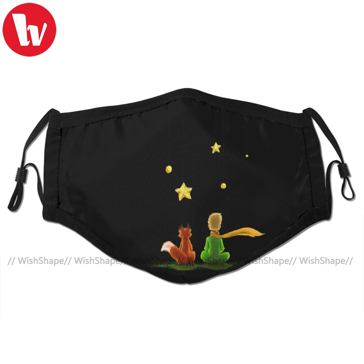 Little Prince Mouth Face Mask Le Petit Prince Facial Mask Cool Kawai With 2 Filters For Adult