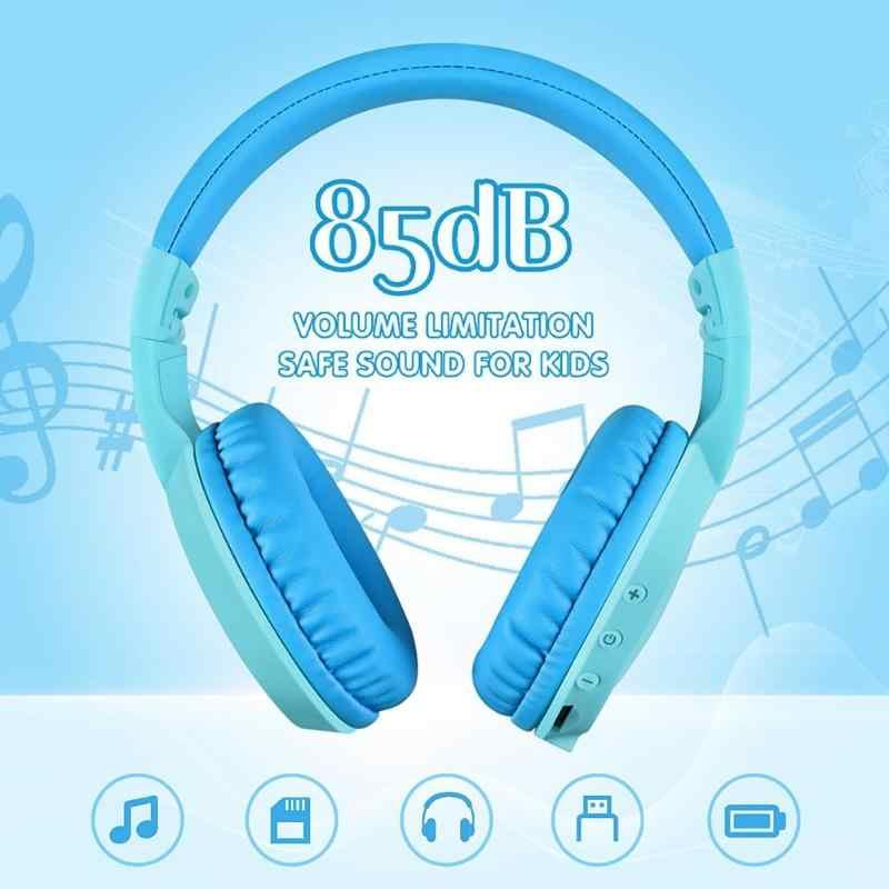 VT02 บลูทูธ 5.0 หูฟังแบบพับเก็บได้ไร้สายชุดหูฟังสเตอริโอ ULTRA-ยาวเล่นหูฟังสำหรับเด็กใหม่ล่าสุด
