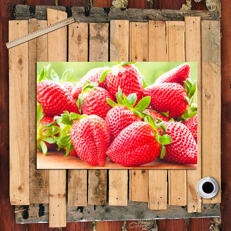 Close Up Strawberry Art Canvas Poster Nordic Decorative Picture Painting Modern Wall Art Canvas Painting Home Decor Art Prints