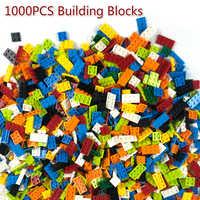 1000 Pcs Building Blocks Bricks DIY Creative Bricks Bulk Model Figures Compatible City Friends Educational Kids Toys
