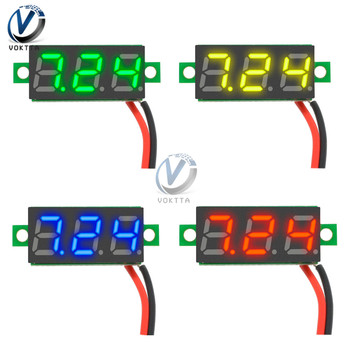 0.28 0.28 inch DC 3.5-30V Super Mini Digital Red Green Blue Yellow LED Car Voltmeter Voltage Volt Panel Meter Battery Monitor image