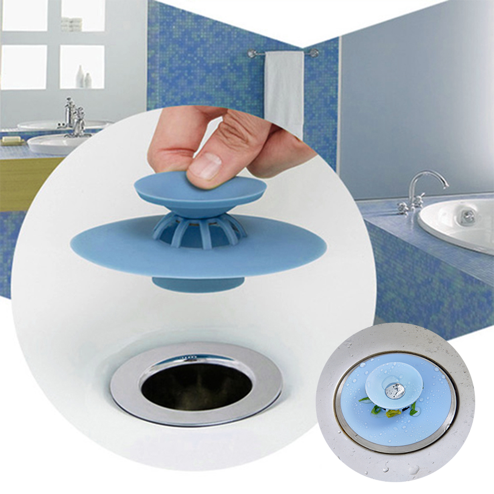 1Pc Kitchen Rubber Bath Tub Sink Floor Drain Plug Kitchen Laundry Water Stopper Tool Laundry Bathroom Bathtub Drain Press