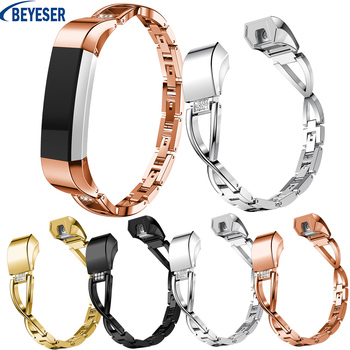 High Quality Luxury Stainless Steel Rhinestone Watchband Replacement Strap For Fitbit Alta/Alta HR band Adjustable Straps high quality soft silicone secure adjustable band for fitbit alta hr band wristband strap bracelet watch replacement accessories