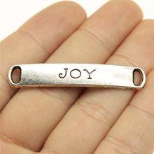 WYSIWYG-5 uds. De colgantes de Joy-Connector de 50x9mm para la fabricación de joyas, colgantes de Joy-Connector de Color plateado antiguo