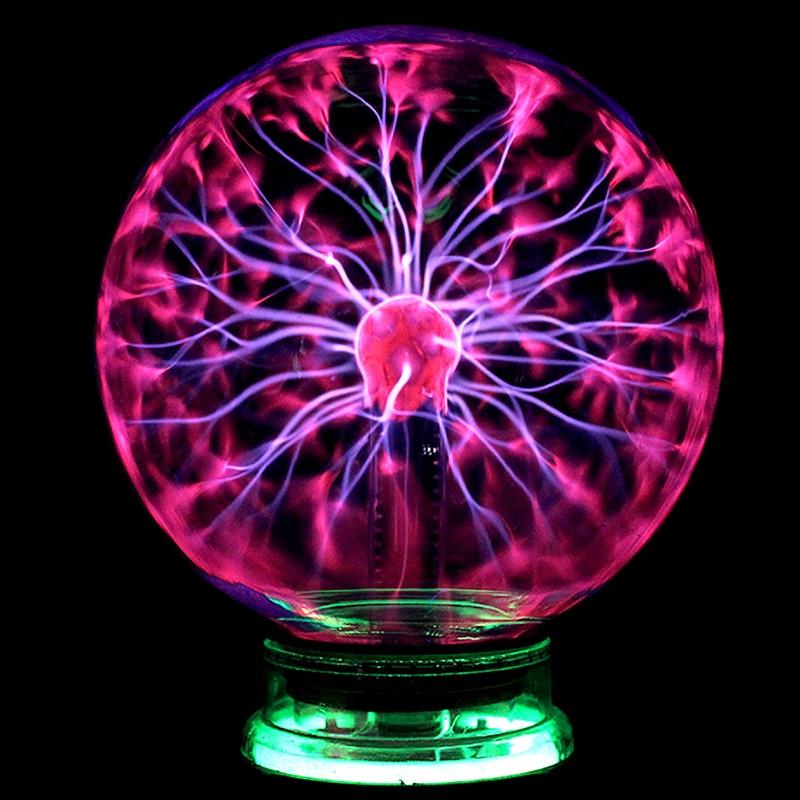 Novelty Lightings Glass Magic Plasma Glass Ball Light Table Lights Sphere Nightlight Kids Gift For New Year Xmas Magic Desk Lamp