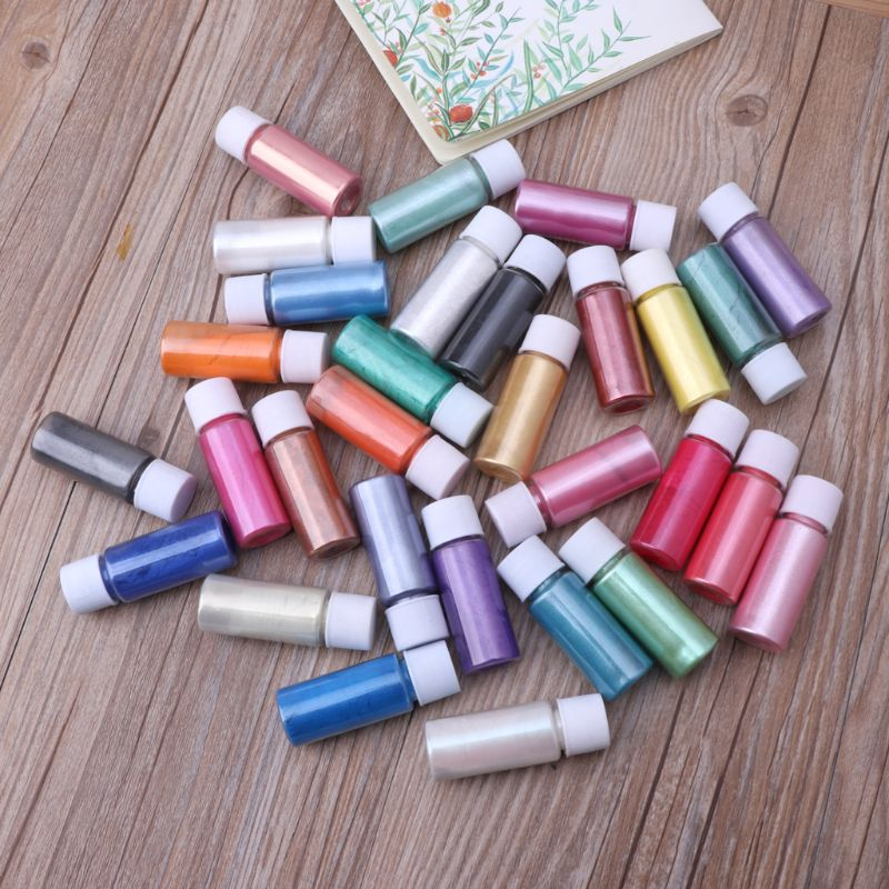 30 Colors Mica Powder Epoxy Resin Dye Pearl Pigment Natural Mica Mineral Powder M0XB