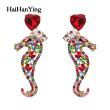 Animal seahorse women earrings holiday beach personality glamour luxury jewelry multiple choices fashion statement