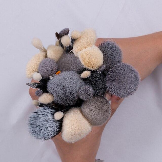 BEILI Black Complete Professional Natural goat hair Makeup Brushes set Foundation Powder Concealer Contour  Eyes Blending brush 3