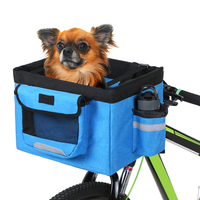 Bicycle Basket Pet Dog Cat Carrier Bicycle Accessories Bike Riding Pouch Bicycle Handlebar Front Bag Box 10Kg Load