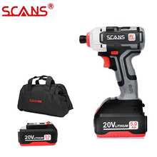 Impact-Screwdriver Li-Ion-Battery Cordless Professional-Tool Lithium 20V SCANS with Free-Return