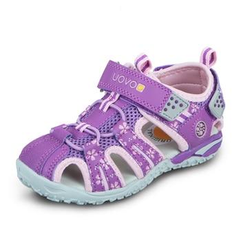 Girls  Beach Sandals Summer Kids Shoes uovo Toddler Closed Toe Children