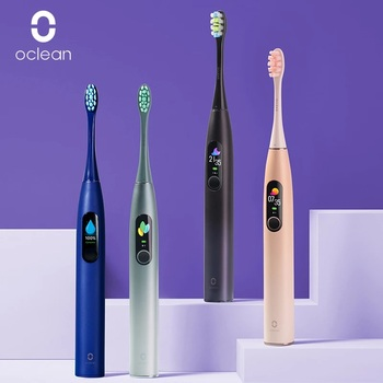 Global Version Oclean X Pro Sonic Electric Toothbrush Adult IPX7 Ultrasonic Automatic Brush Fast Charge Tooth Brush Touch Screen oclean x smart color touch screen sonic electric toothbrush app control international version from xiaomi youpin