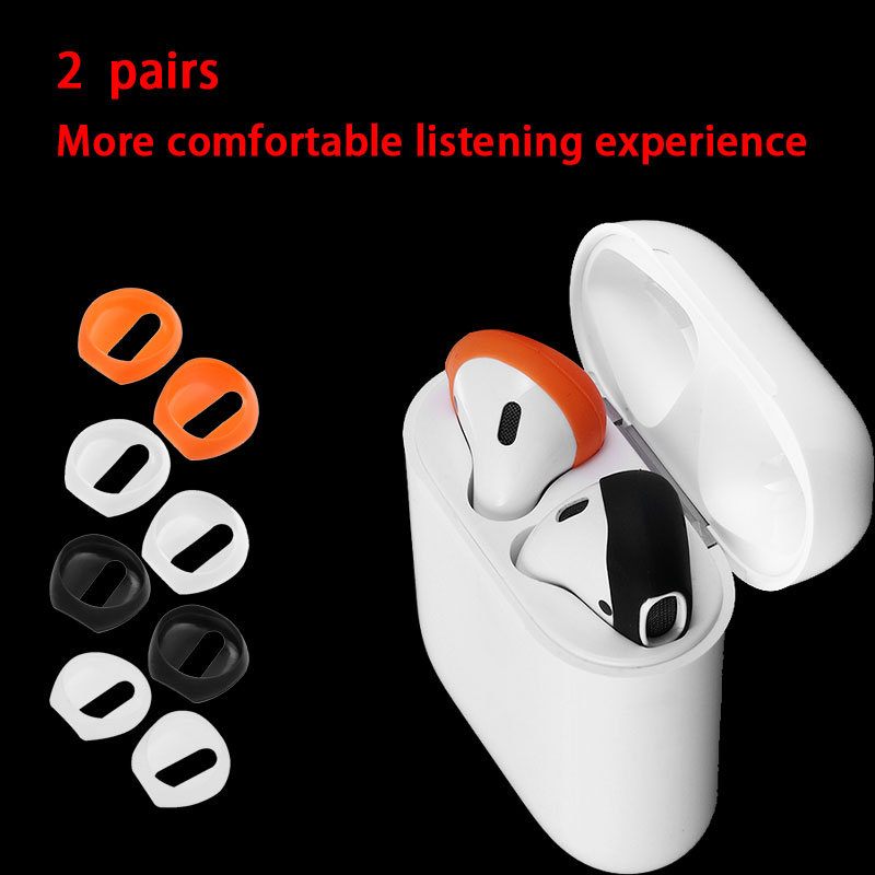 ForAirpods Ultra-Thin Eartips Ear Pads Soft Silicone Portective Case Cover Wireless Bluetooth Air Pods Earpods Headset