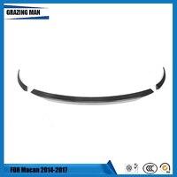 Rear Middle Spoiler Carbon Fibber for Porsche Macan 2014 2016 Tail Trunk Boot Lip Wing Bar