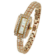 King Girl Brand Watches Luxury Rose Gold Women Crystal Quartz Ladies Rectangle reloj Mujer