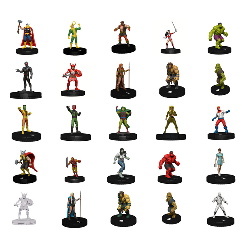 50pcs TRPG Bbg Miniature Game Hero Series Star Trek Characters Models Figures