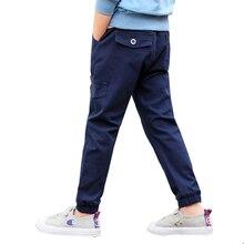 Boys Pants 2021 Autumn Cotton Long Kids Pants 3-14 y Boys Trousers New Style High Quality Kids Pantalones Causal Cargo Pants