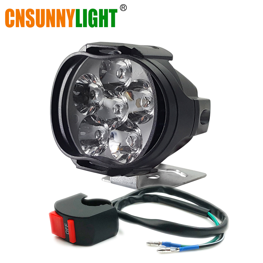 CNSUNNYLIGHT Car LED Work Light Fog Lamp 8W Motorcycle Scooter Spotlight Headlights Super Bright 1000Lm Waterproof Auto Lighting