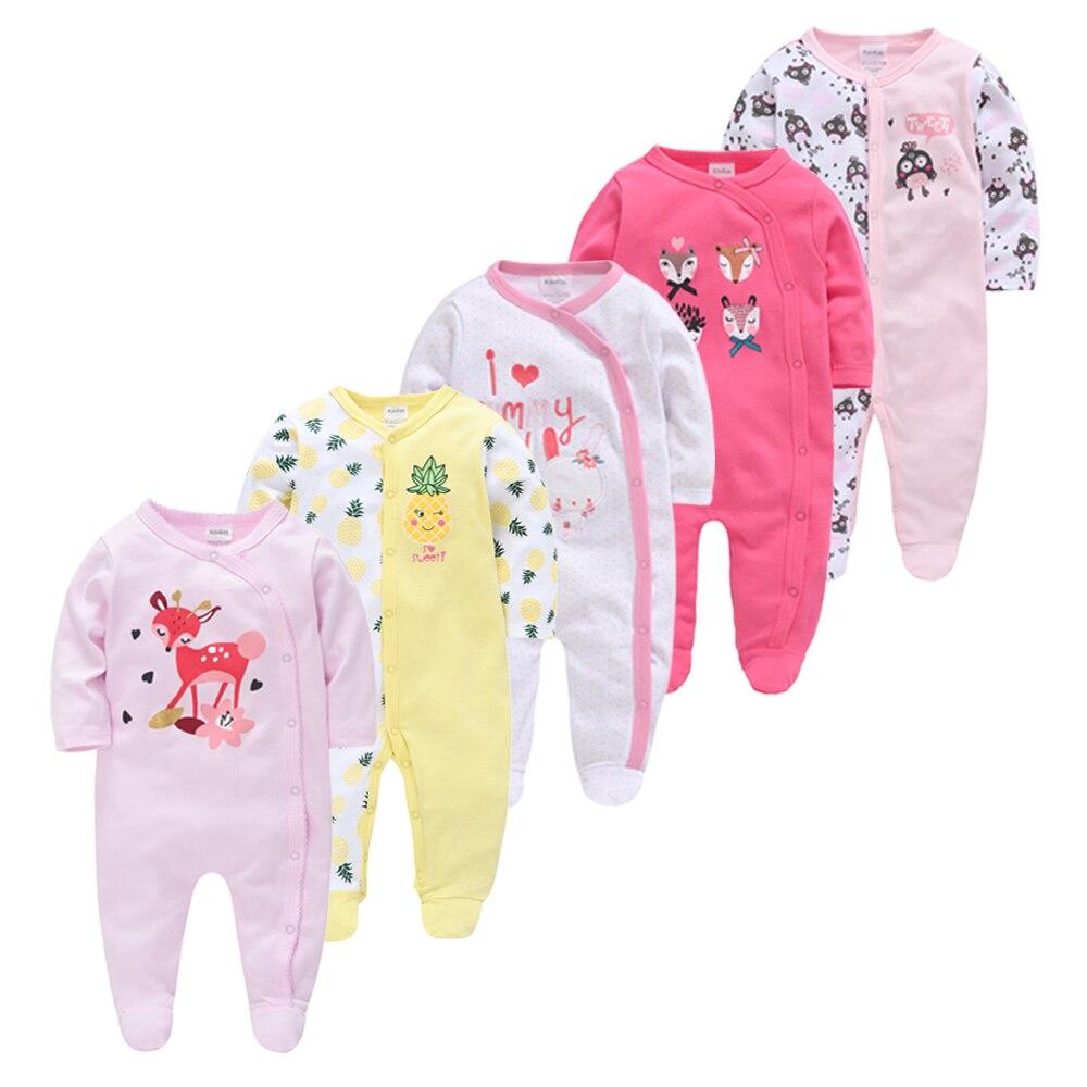 Honeyzone Newborn Clothes Full Sleeve Cotton Baby Girl Boy Clothes Set 5PCS/Lot Roupa De Bebes Infant Jumpsuit Ropa Para Bebes
