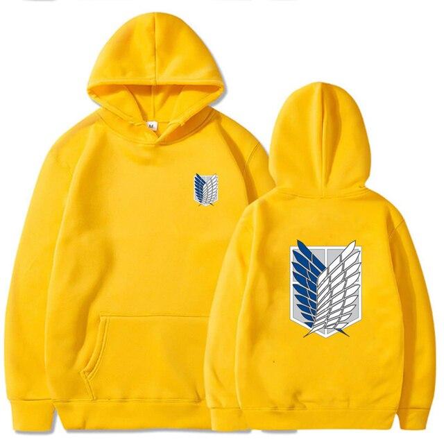 Attack on Titan Hoodie Men Fashion Loose Pullovers Casaul Tops oversize hoodie sweatshirt women Regular pullover hoodies 5