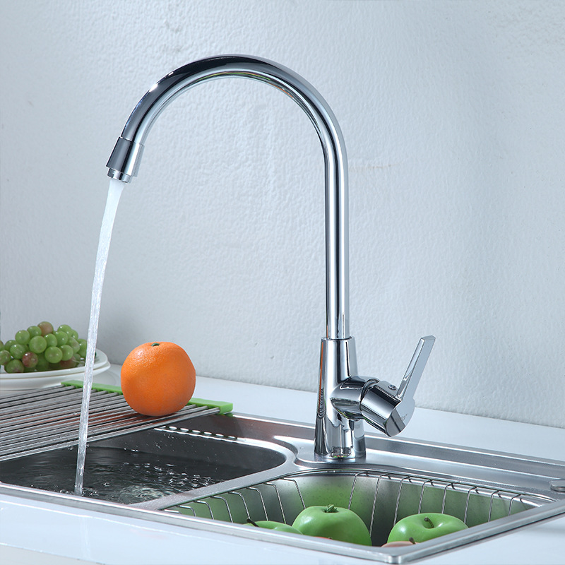 Hot And Cold Kitchen Faucet Copper Core Body Manufacturers Direct Selling Wholesale Aggravate Goddess Kitchen Sink Mixing Faucet