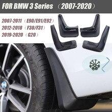 Çamur Flaps BMW 3 serisi için E90 E91 E92 G20 F30 F31 araba çamurluklar Splash muhafızları çamur Flaps araba çamurluk aksesuarları 4 adet 2007 2020