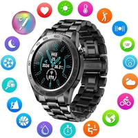 LIGE-reloj inteligente deportivo para hombre, accesorio de pulsera resistente al agua IP67 con GPS, completamente táctil, termómetro y Monitor de ritmo cardíaco