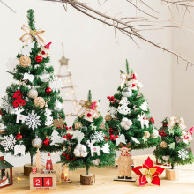 2020 Mini Christmas Tree Decorations DIY Christmas Tree 45cm Desktop Home Room Decoration Accessories Children Christmas Gift(China)
