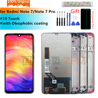 Original for xiaomi Redmi Note 7 LCD display touch screen digitizer Assembly for redmi note7 pro lcd+frame 10 touch repair parts