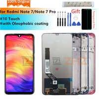 Original pour xiaomi redmi note 7 LCD écran tactile numériseur assemblée pour redmi note 7 pro lcd + cadre 10 pièces de réparation tactile