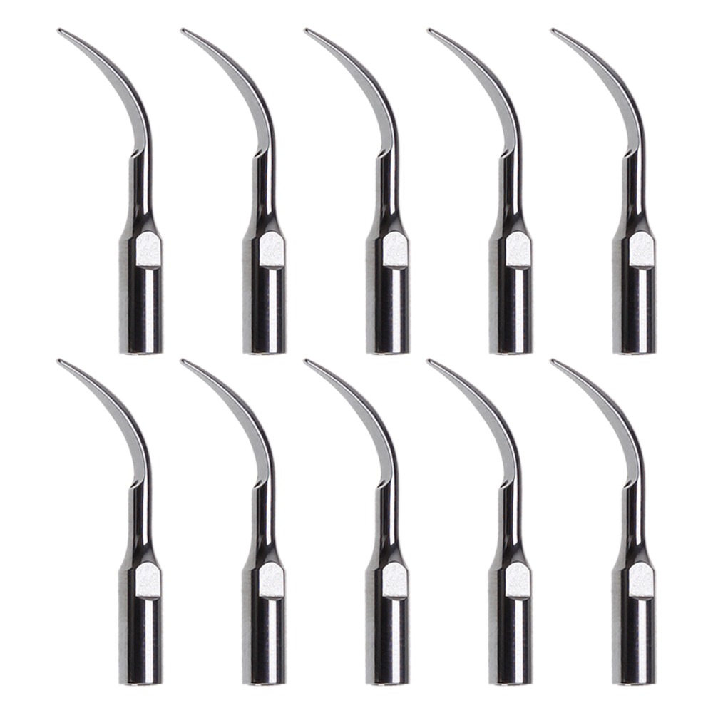 10 Pcs Dental Ultrasonic Scaler Insert Scaling Tips For DTE SATELEC NSK GD1