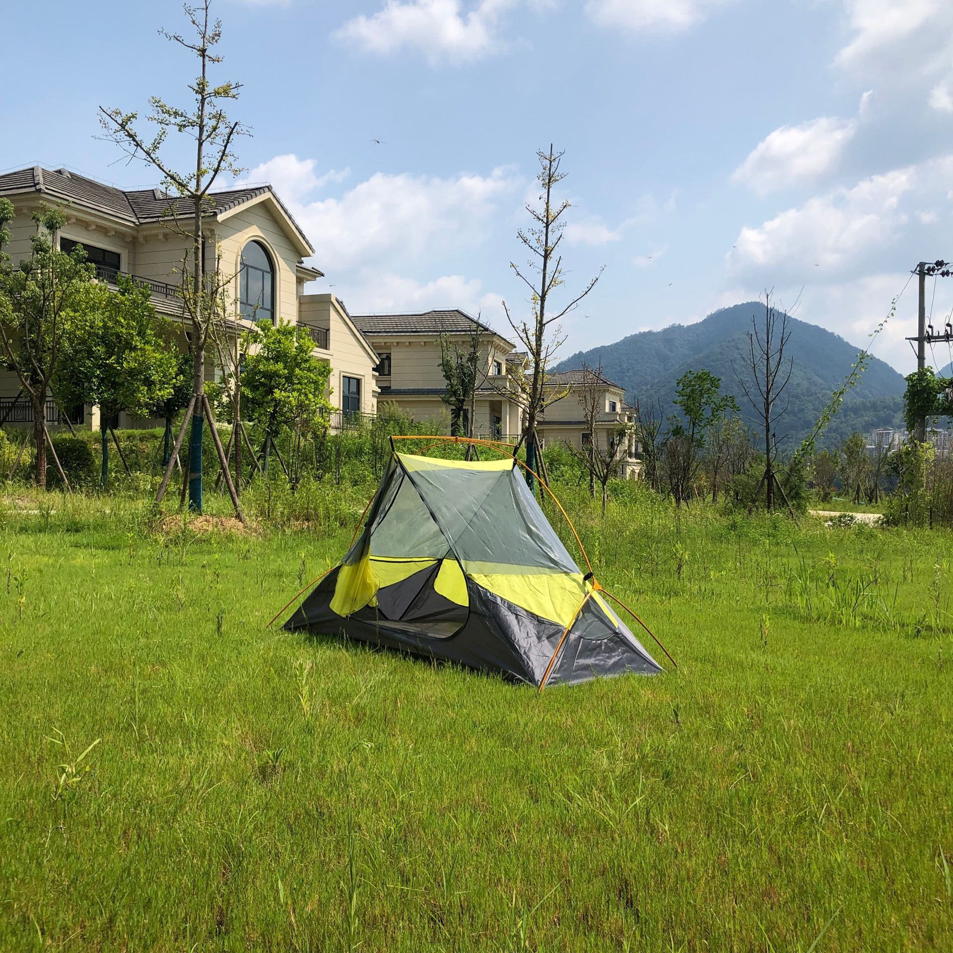 Żółty kolor Hubba Hubba NX 1 osoba lekki namiot na wędrówki z plecakiem, CZX-305 żółty namiot kempingowy, ultralekki namiot 1 człowiek, żółty namiot